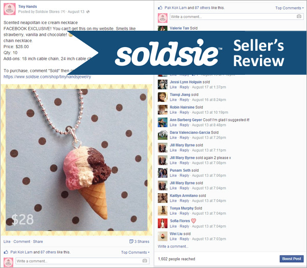 Soldsie Seller's Review