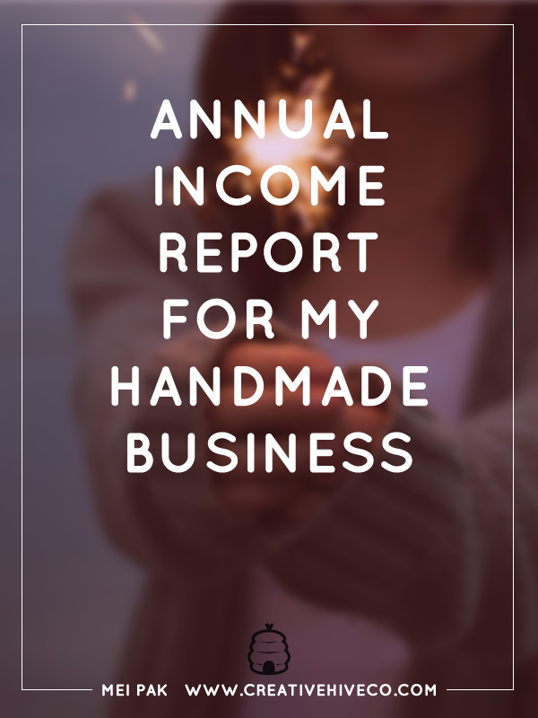 Annual Income Report for my Handmade Business