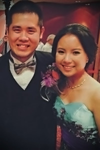 My husband and I at our wedding in November 2014!