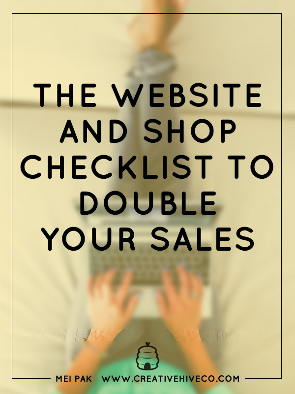 The website and shop checklist to double your sales