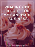 2014 Income Report for my Handmade Business