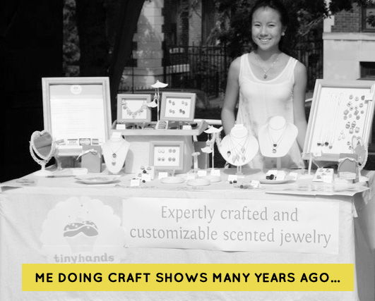 Mei at a craft show