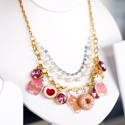 Charm necklace by Mei