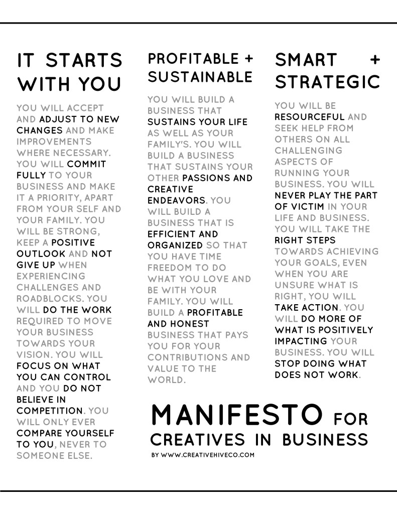 Manifesto for Creatives in Business