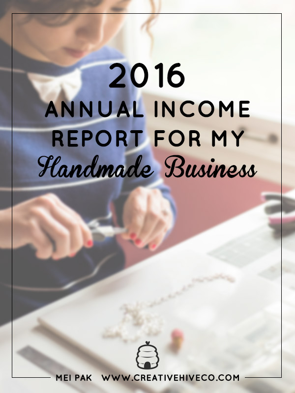 2016 Annual Income Report For My Handmade Business