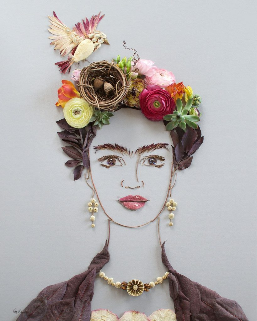 """Nesting Frida"" Flower Face Print"